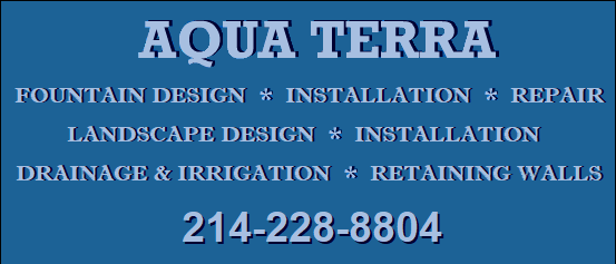 Residential & Commercial Water Fountains - Aqua Terra Company Fort Worth Texas